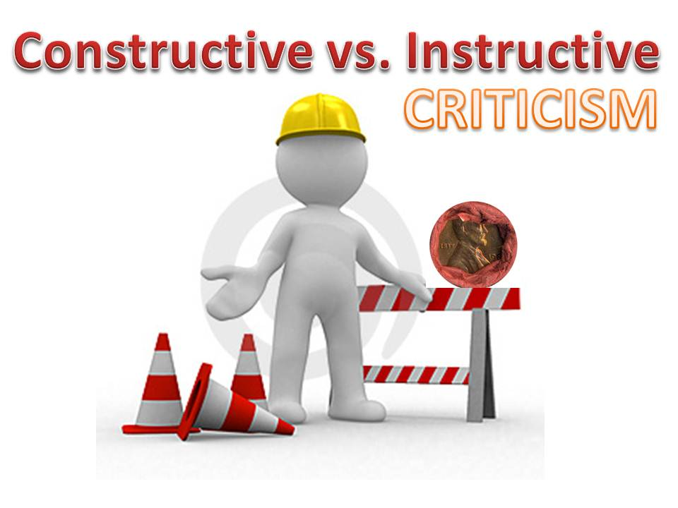 Constructive And Instructive Criticism Proxiblogs Top Online Coin