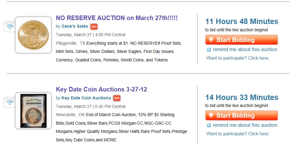 Consider Coin Auction Specials | Proxiblog's Top Online Coin