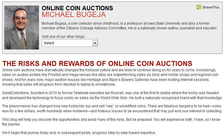 OINLINE COIN AUCTIONS